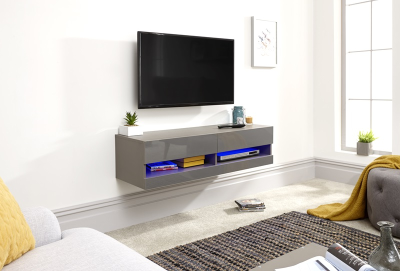 Gfw Galicia 120cm Wall Tv Unit With Led At Mattressman With Regard To Galicia 180cm Led Wide Wall Tv Unit Stands (View 11 of 20)