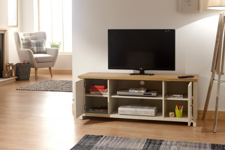 Gfw Lancaster Large Tv Cabinet In Creamgfw For Lancaster Small Tv Stands (View 3 of 20)