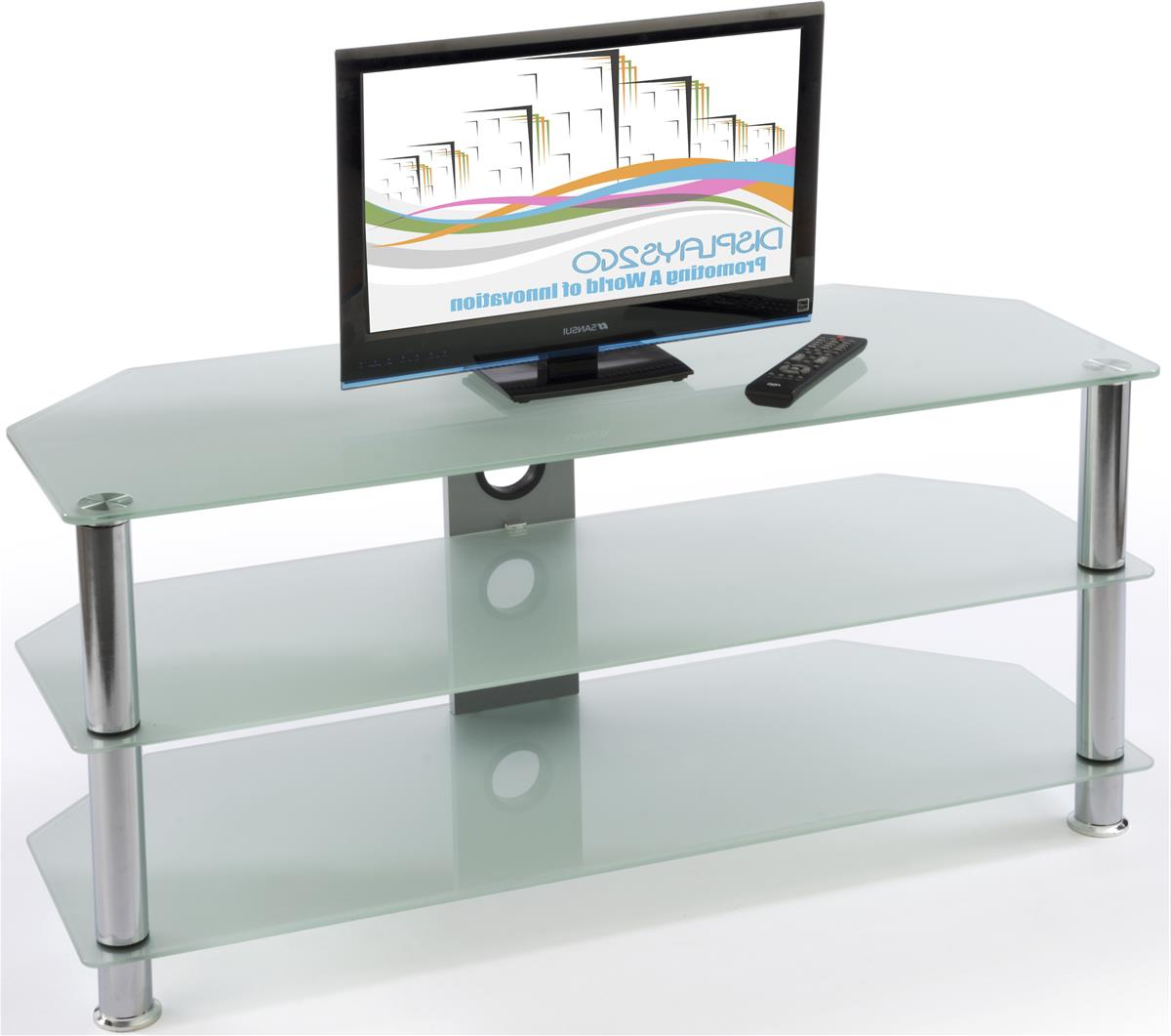 Glass Tv Stands   Entertainment Centers For Homes Inside Tv Stands With Cable Management (View 10 of 20)