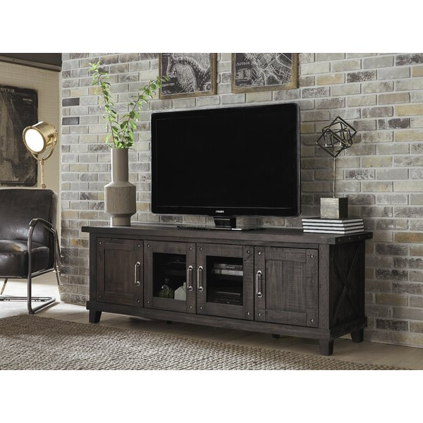 """Gracie Oaks Bucareli Solid Wood Tv Stand For Tvs Up To 88 Within Gosnold Tv Stands For Tvs Up To 88"""" (View 1 of 20)"""