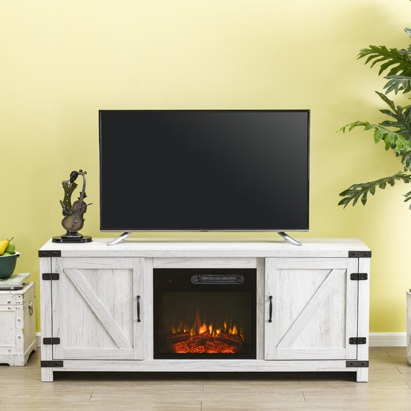"""Gracie Oaks Eakly Tv Stand For Tvs Up To 65"""" With Electric With Regard To Neilsen Tv Stands For Tvs Up To 65"""" (View 4 of 20)"""