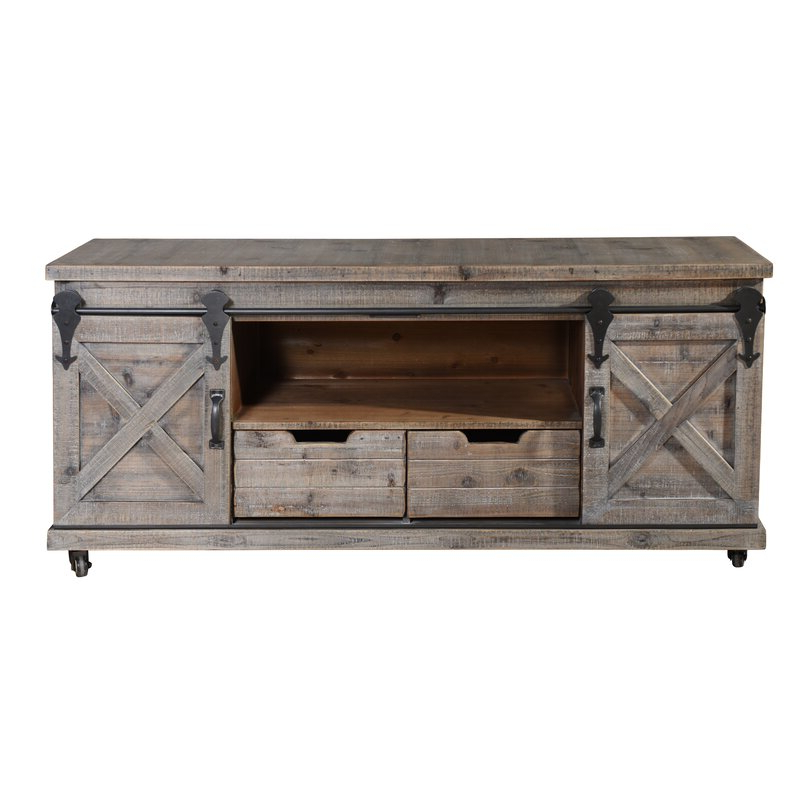 """Gracie Oaks Magnus Solid Wood Tv Stand For Tvs Up To 60 With Regard To Griffing Solid Wood Tv Stands For Tvs Up To 85"""" (View 3 of 20)"""