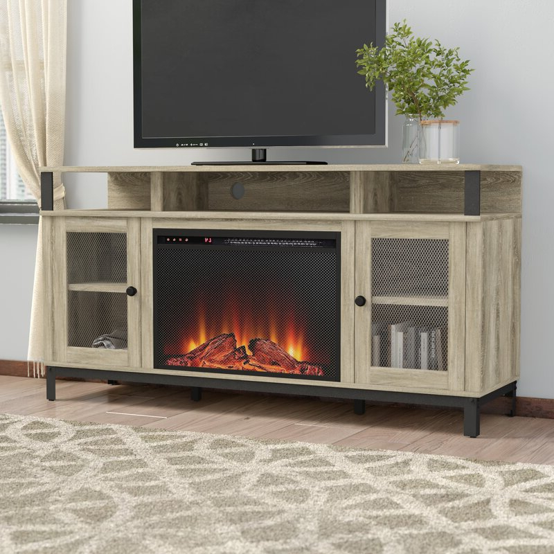 """Gracie Oaks Mastrangelo Tv Stand For Tvs Up To 65"""" With In Rickard Tv Stands For Tvs Up To 65"""" With Fireplace Included (View 16 of 20)"""