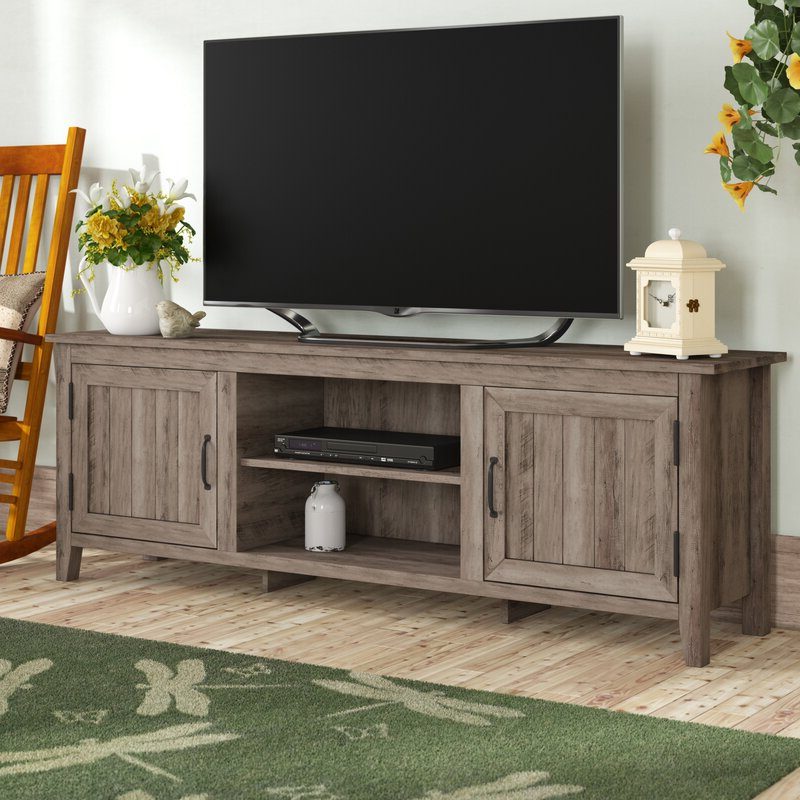 """Gracie Oaks Shreffler Tv Stand For Tvs Up To 78"""" & Reviews Intended For Grandstaff Tv Stands For Tvs Up To 78"""" (View 7 of 20)"""