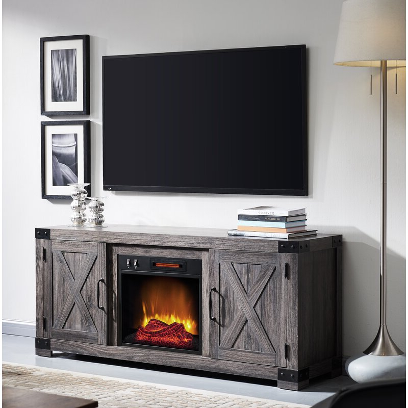 """Gracie Oaks Vasily Tv Stand For Tvs Up To 65"""" With Intended For Rickard Tv Stands For Tvs Up To 65"""" With Fireplace Included (View 4 of 20)"""