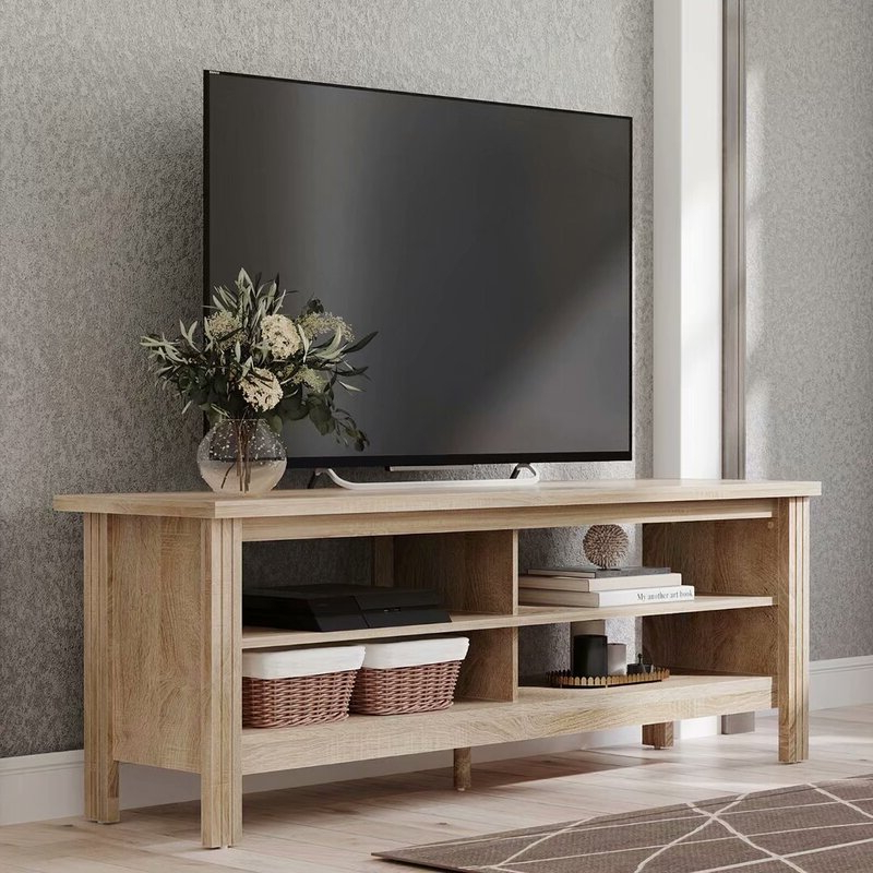 """Gracie Oaks Wampat Farmhouse Wood Tv Stands For 65 Inch Within Maubara Tv Stands For Tvs Up To 43"""" (View 7 of 20)"""