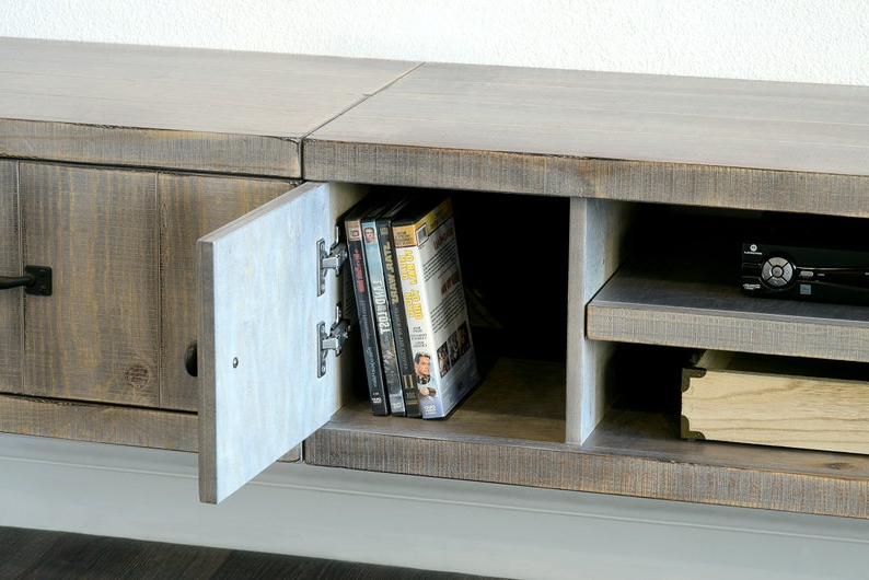 Gray Rustic Barn Wood Style Floating Tv Stand For Tv Stands In Rustic Gray Wash Entertainment Center For Living Room (View 18 of 20)