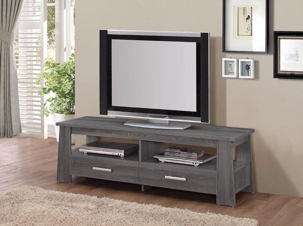 Gray Rustic Tv Stand Modern Contemporary Living Room Space Regarding Rustic Grey Tv Stand Media Console Stands For Living Room Bedroom (View 10 of 20)
