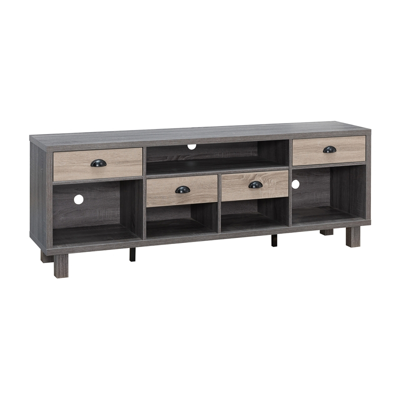 """Gray Tv Stands For Del Mar 50"""" Corner Tv Stands White And Gray (View 17 of 20)"""