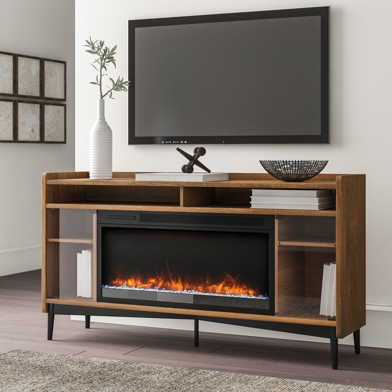 """Gutierrez Tv Stand For Tvs Up To 60""""   Electric Fireplace Regarding Neilsen Tv Stands For Tvs Up To 50"""" With Fireplace Included (View 8 of 20)"""