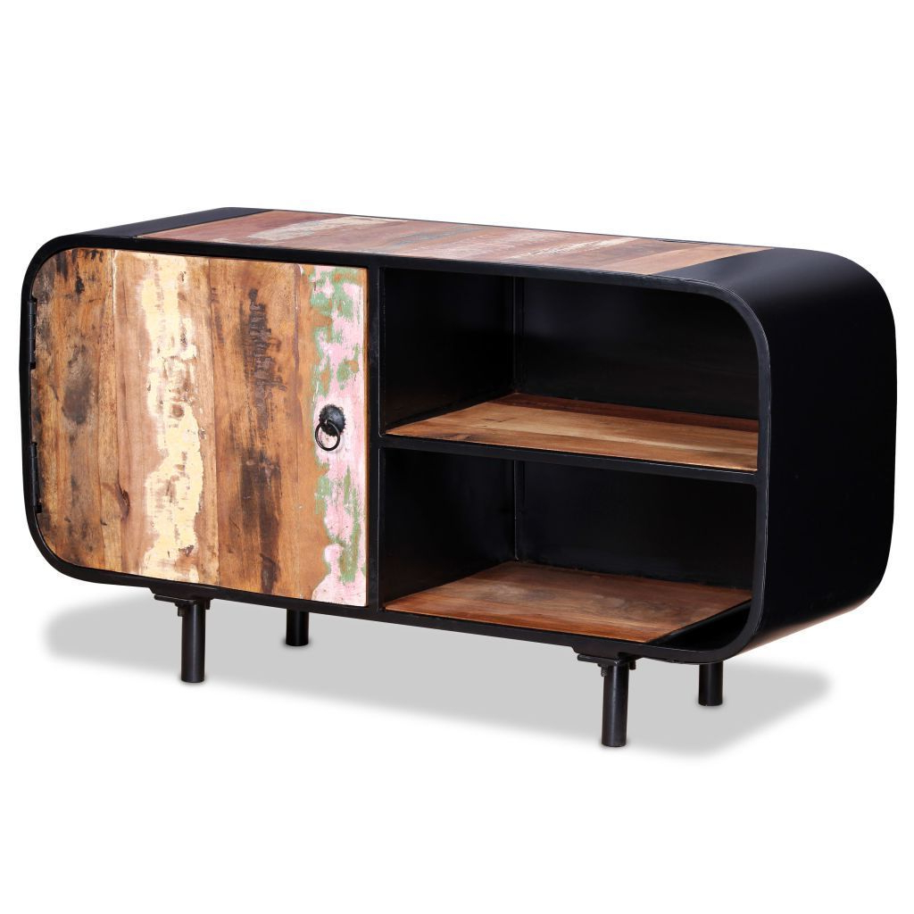 H4home Vintage Industrial Tv Stand Cabinet Reclaimed Wood With Regard To Owen Retro Tv Unit Stands (View 13 of 20)
