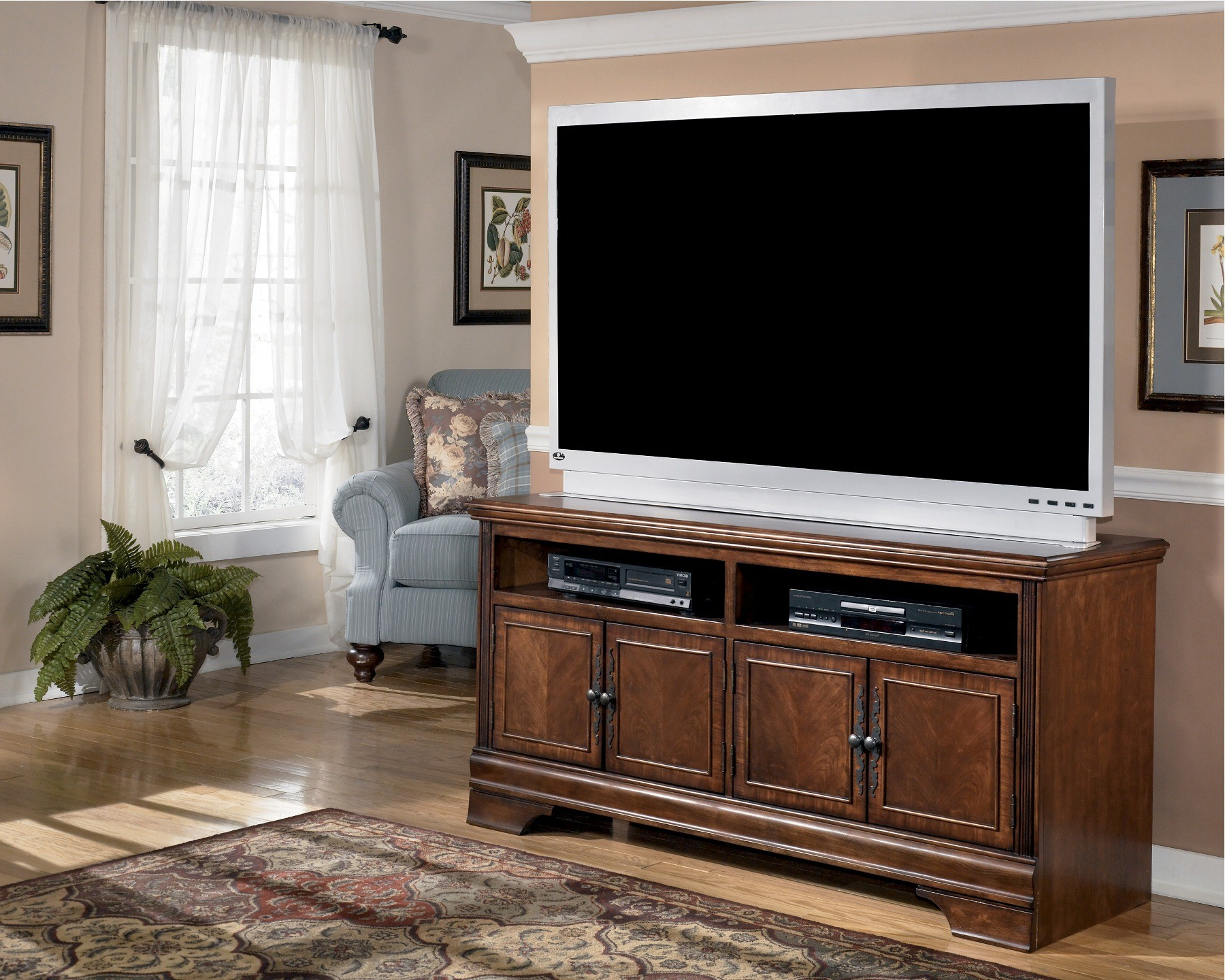 """Hamlyn 60 Inch Tv Stand From Ashley (w527 38)   Coleman In Millen Tv Stands For Tvs Up To 60"""" (View 17 of 20)"""