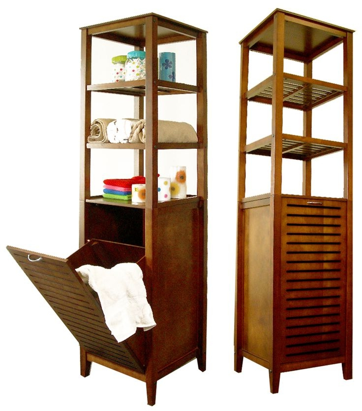 Hamper With Shelves – Ideas On Foter With Large Rolling Tv Stands On Wheels With Black Finish Metal Shelf (View 10 of 20)