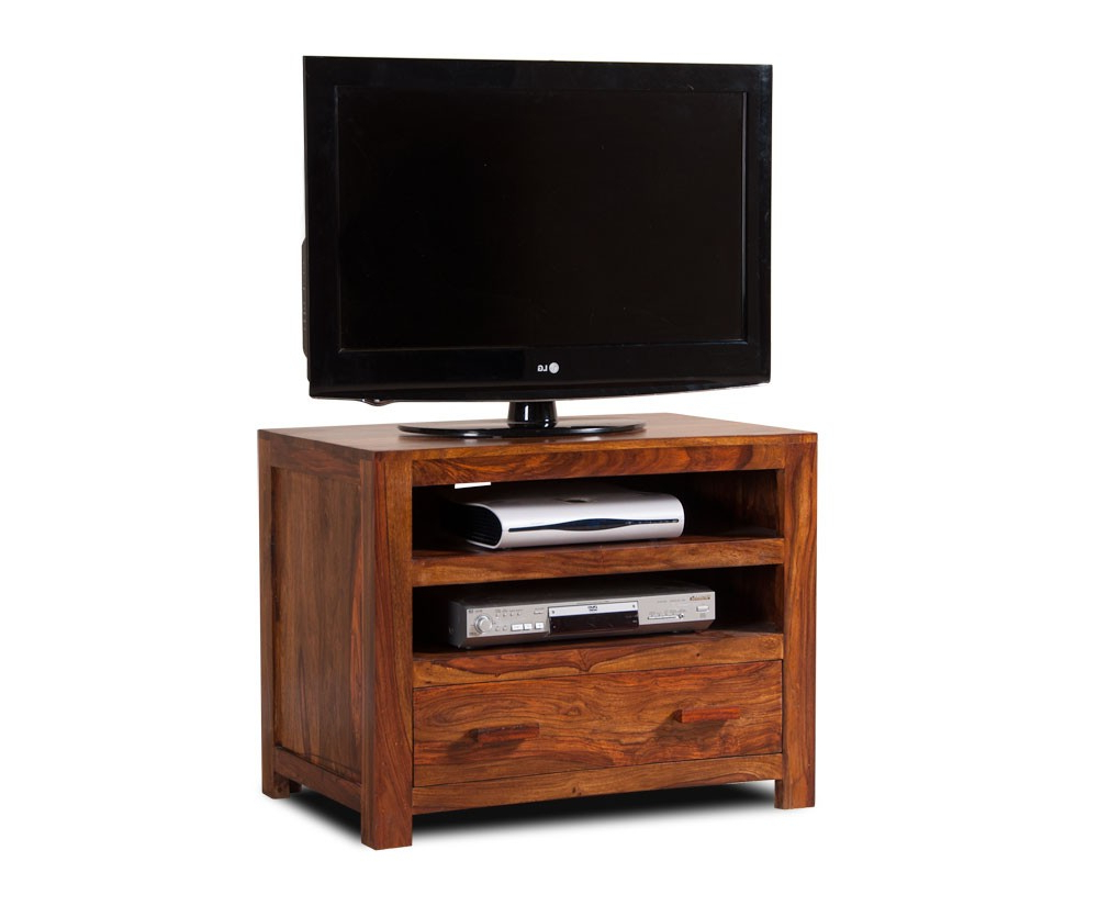 Handcrafted Solid Wood Tv Unit – Small | Casa Bella Regarding Manhattan Compact Tv Unit Stands (View 6 of 20)