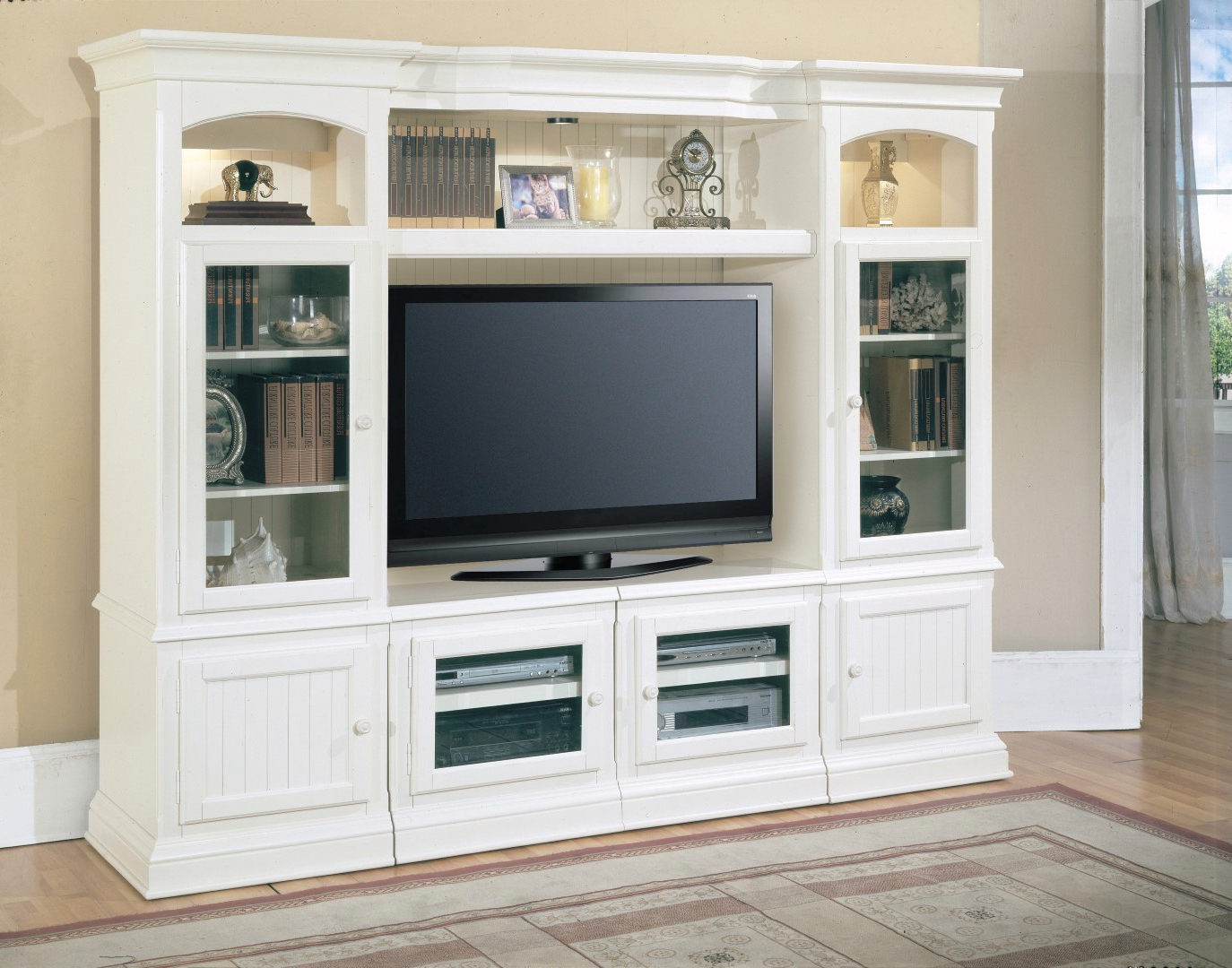 """Hartford Beach Cottage 48"""" – 72"""" X Pandable Tv Media Stand Pertaining To Hannu Tv Media Unit White Stands (View 11 of 20)"""