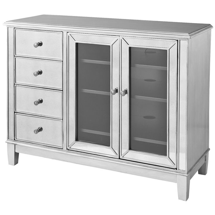 Hayworth Mirrored Tv Stand – Silver   Tv Stand, Mirrored Inside Fitzgerald Mirrored Tv Stands (View 17 of 20)