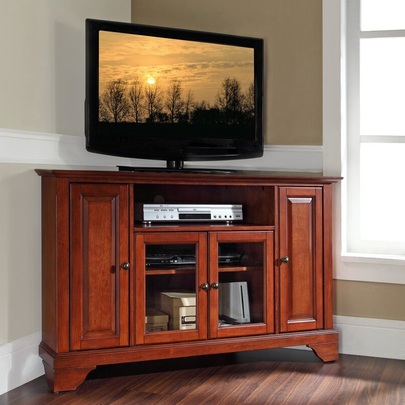 """Hedon Corner Unit Tv Stand For Tvs Up To 50 Inches With Regard To Camden Corner Tv Stands For Tvs Up To 50"""" (View 2 of 20)"""