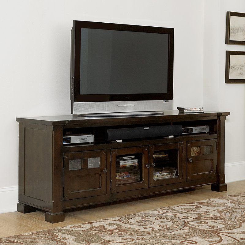 """Heffron Solid Wood Tv Stand For Tvs Up To 85 With Regard To Bustillos Tv Stands For Tvs Up To 85"""" (View 2 of 20)"""