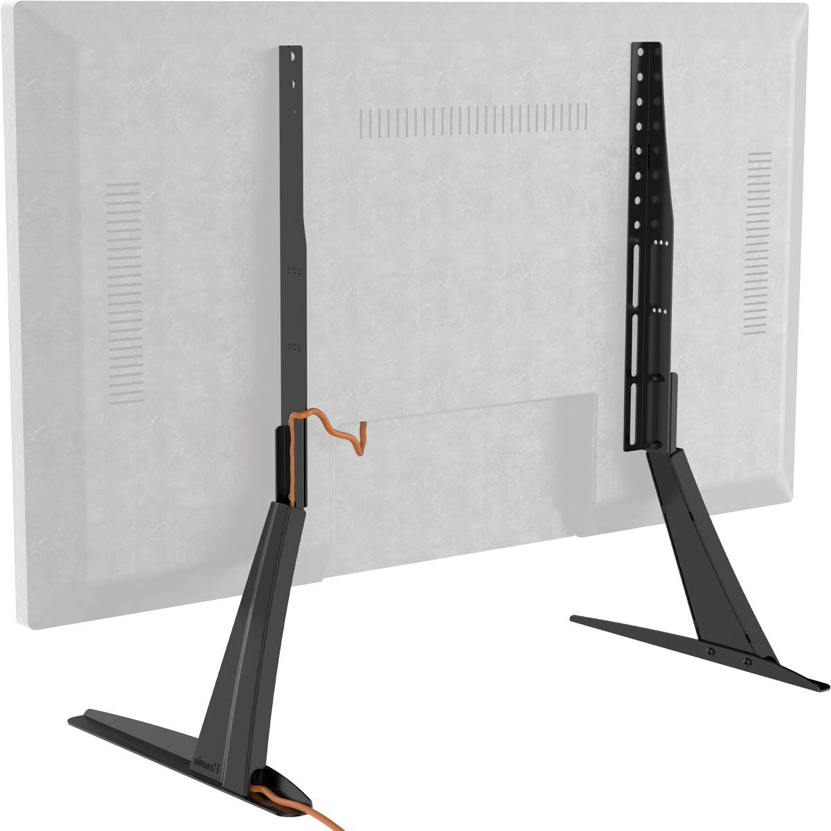 """Hemudu Universal Table Top Tv Stand Base Vesa Pedestal Regarding Tv Stands With Cable Management For Tvs Up To 55"""" (View 16 of 20)"""
