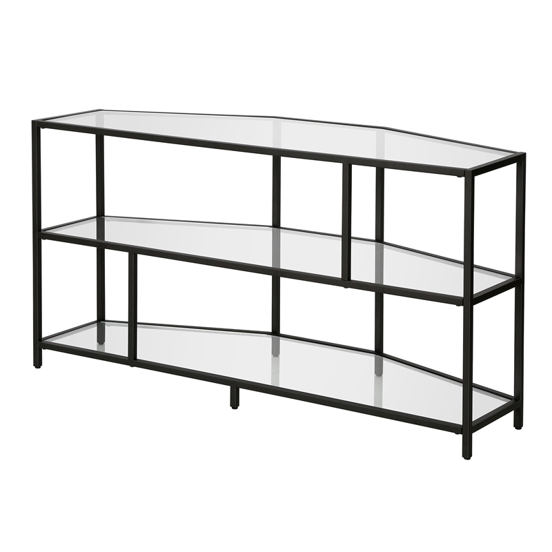 Henn&hart Black Metal Tv Stand 48 In (View 14 of 20)