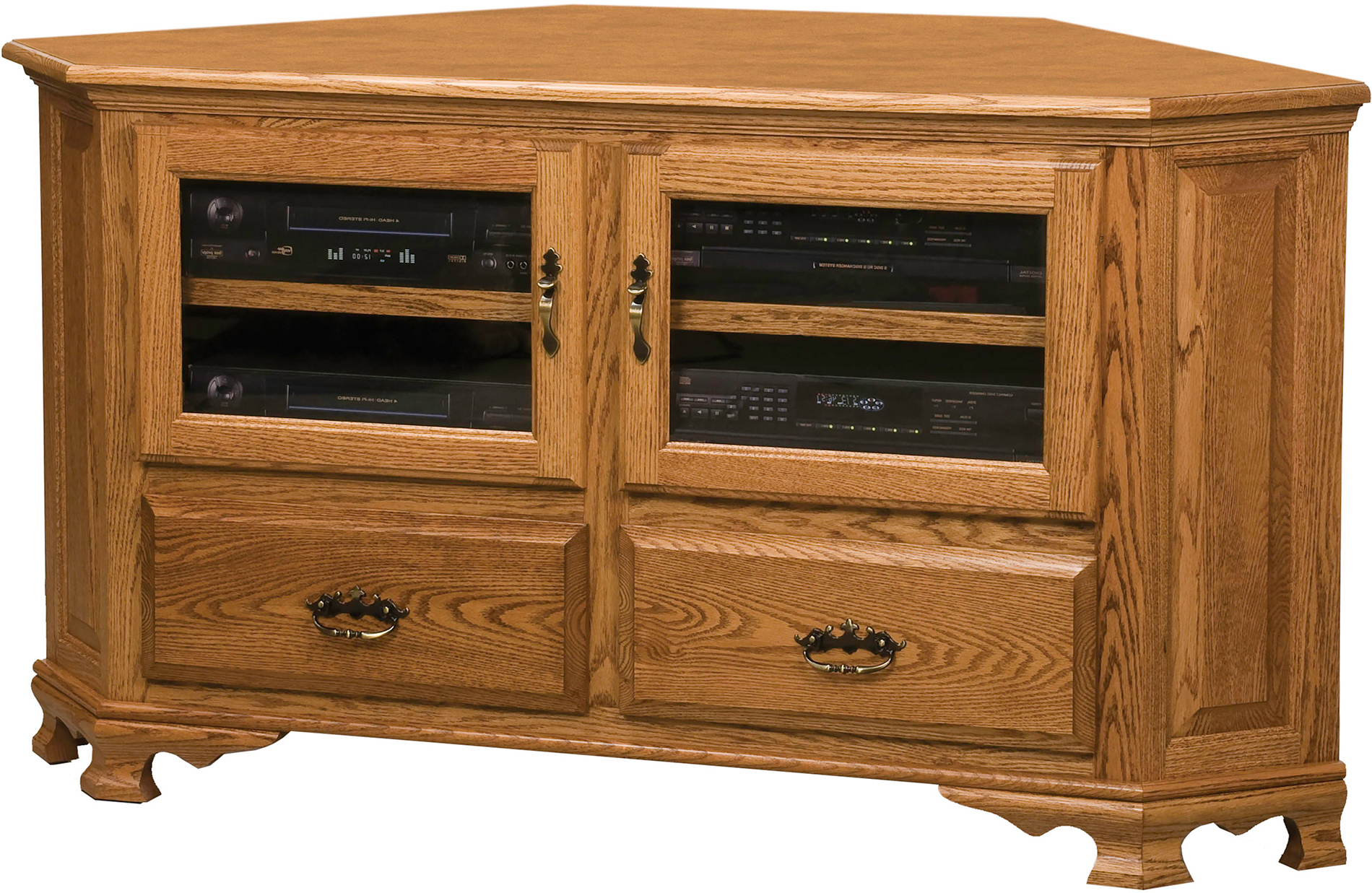 Heritage Large Corner Tv Stand | Amish Heritage Large For Hex Corner Tv Stands (View 13 of 20)