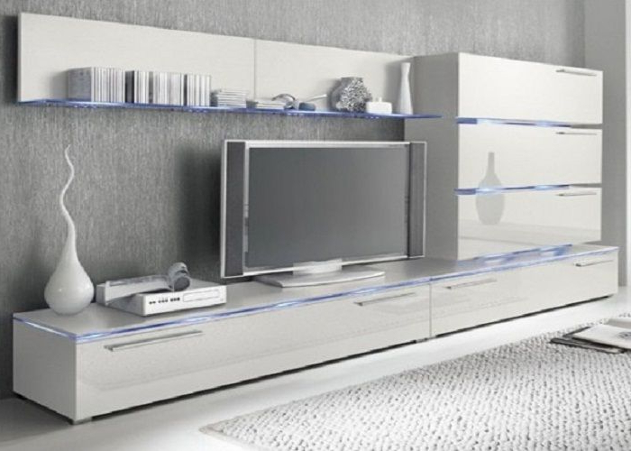 High Gloss White Wall Mounted Tv Units With Glass Panels For High Glass Modern Entertainment Tv Stands For Living Room Bedroom (View 15 of 20)