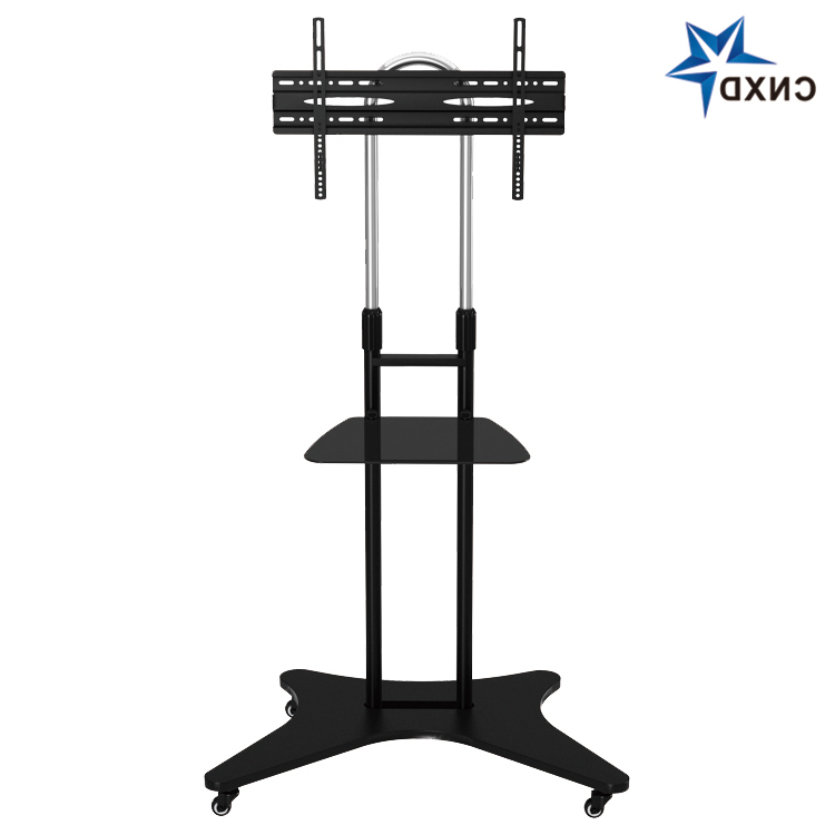 High Quality Tv Trolley With Casters Tv Mobile Stand With Within Mount Factory Rolling Tv Stands (View 2 of 20)