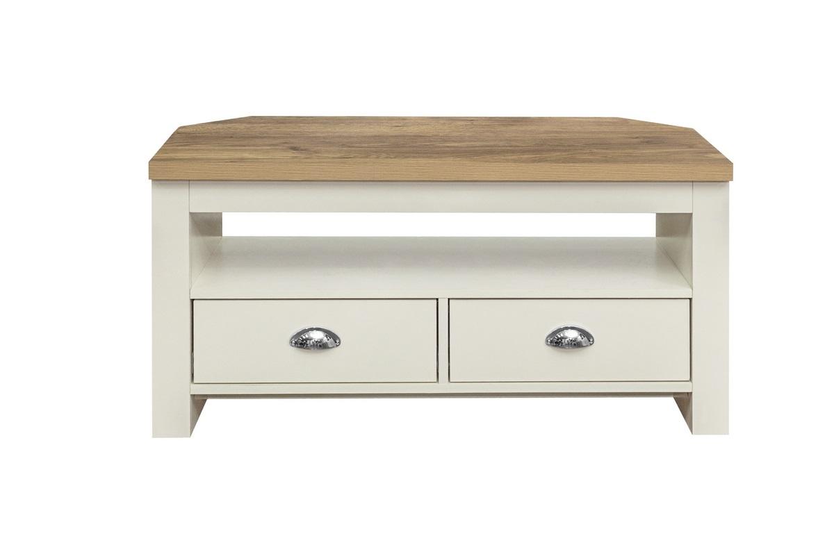 Highgate Corner Tv Unit Cream & Oak Effect – Birlea Furniture In Fulton Oak Effect Corner Tv Stands (View 2 of 20)