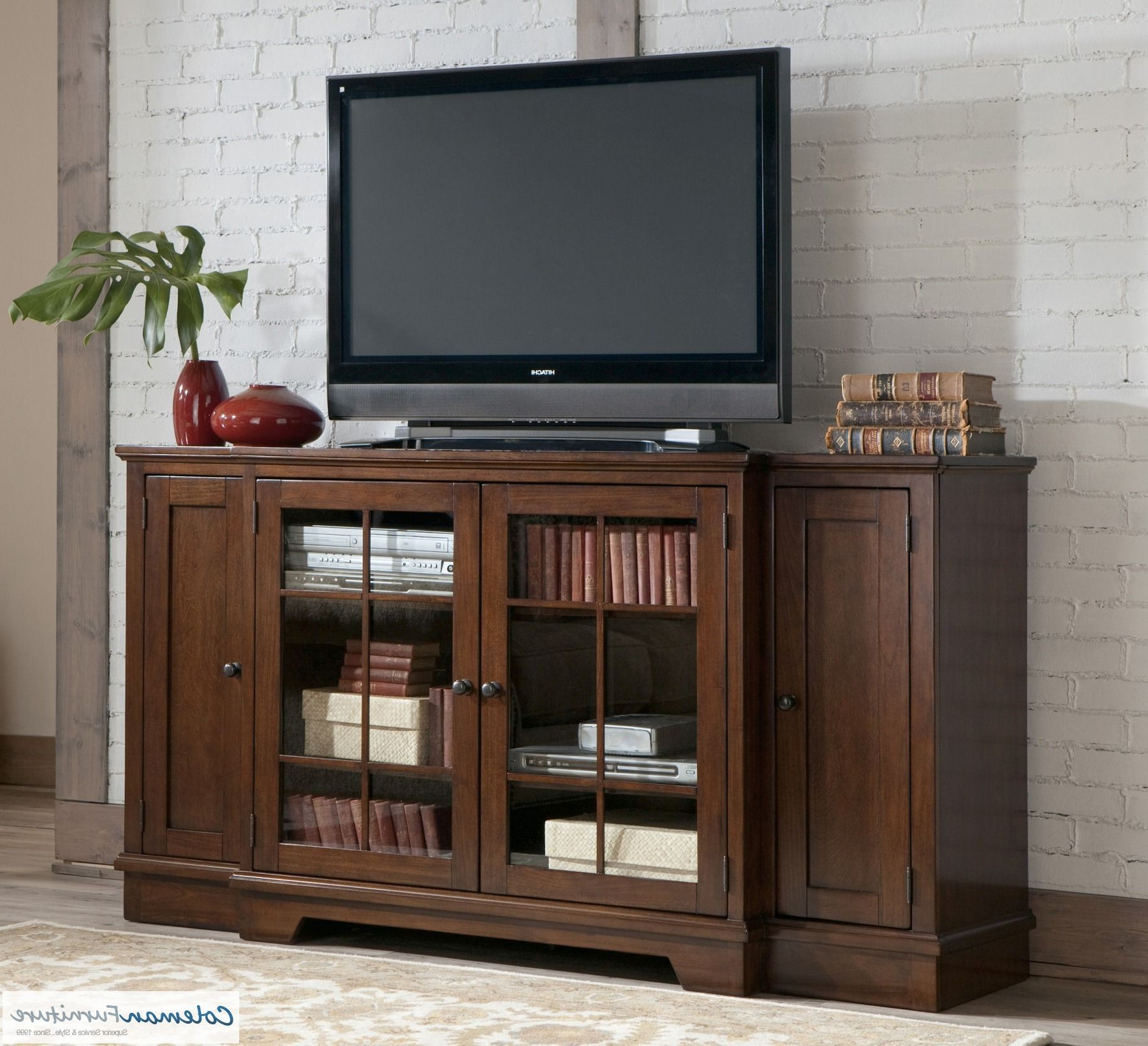 Hodgenville Tall Extra Large Tv Stand From Ashley (w684 48 In Anya Wide Tv Stands (View 6 of 20)