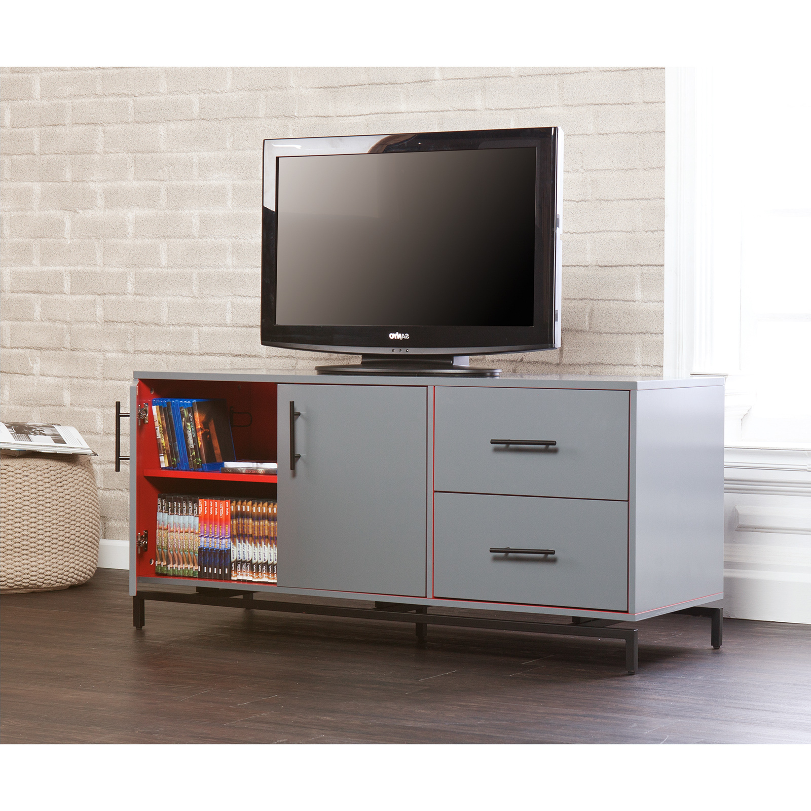 Holly & Martin Mahlias Tv Stand – Gray – Tv Stands At Regarding Delphi Grey Tv Stands (View 7 of 20)