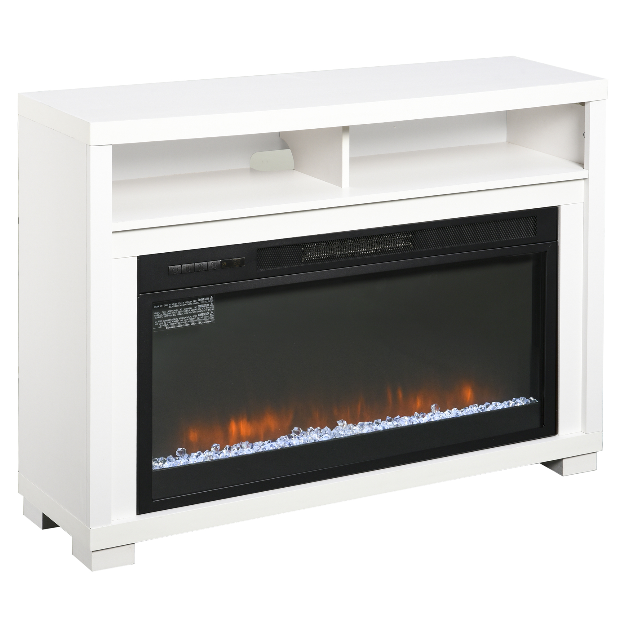 Homcom Multifunction Electric Fireplace Tv Stand With Pertaining To Tv Stands With Cable Management (View 18 of 20)
