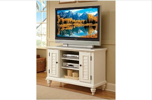 Home Styles 5543 09 Bermuda Tv Stand, Brushed White Finish Within Naples Corner Tv Stands (View 3 of 20)