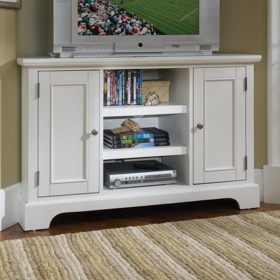 """Home Styles Naples Creamy White Tv Cabinet At Lowes Intended For Wood Corner Storage Console Tv Stands For Tvs Up To 55"""" White (View 16 of 20)"""