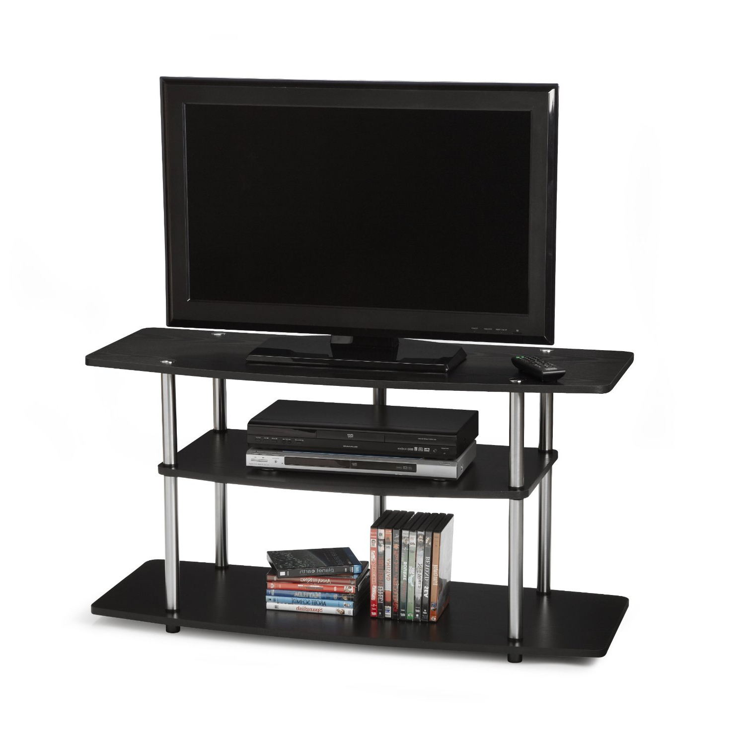Homedesign: Television Stands & Entertainment Centers For Wide Tv Stands Entertainment Center Columbia Walnut/black (View 6 of 20)