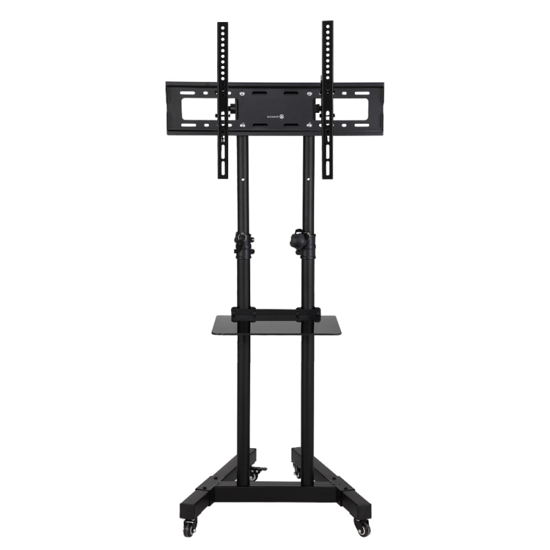 Homegear Portable Tv Cart Stand With Height / Tilt Intended For Rolling Tv Cart Mobile Tv Stands With Lockable Wheels (View 6 of 20)