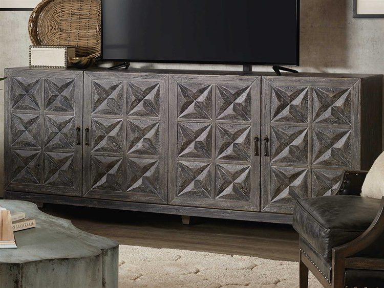 Hooker Furniture Beaumont Gray Tv Stand   Hoo57515548389 With Lucy Cane Grey Wide Tv Stands (View 5 of 20)