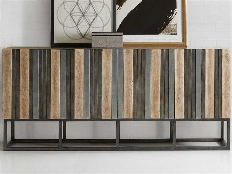 Hooker Furniture Melange Light Wood Tv Stand   Hoo63885399ltwd Inside Lucy Cane Grey Wide Tv Stands (View 4 of 20)