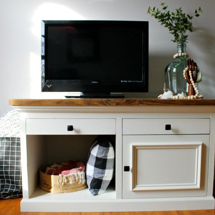 How To Build A Tv {or Aquarium!} Stand   Diy Tv Stand, Tv Throughout Space Saving Gaming Storage Tv Stands (View 7 of 20)