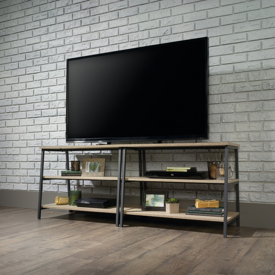 """Industrial Style Tv Stand With Casey May Tv Stands For Tvs Up To 70"""" (View 2 of 20)"""