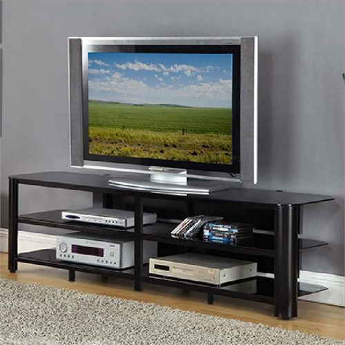 """Innovex Oxford Series 75 Inch Flat Screen Tv Stand Black Pertaining To Chrissy Tv Stands For Tvs Up To 75"""" (View 13 of 20)"""
