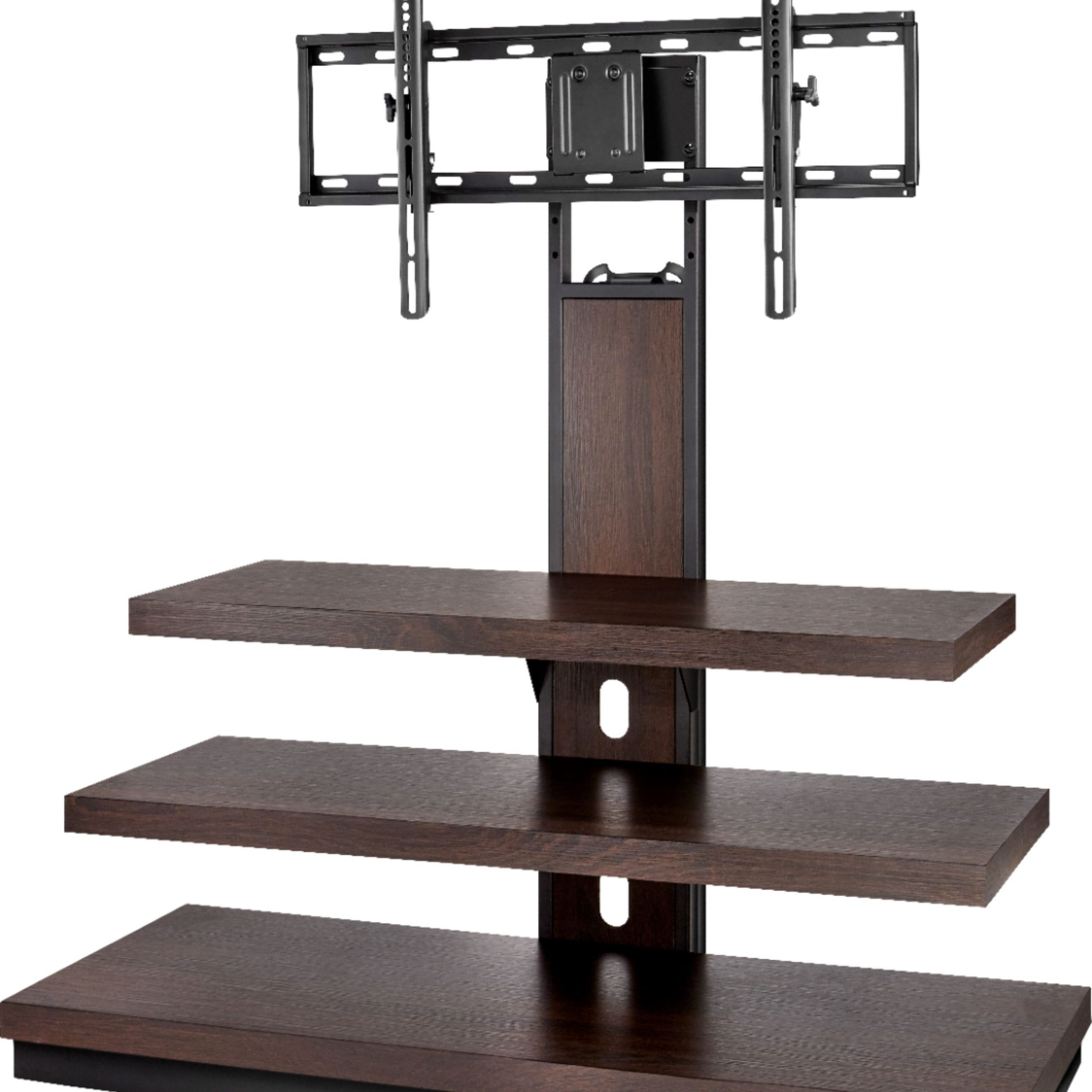 """Insignia™ Tv Stand For Most Flat Panel Tvs Up To 55"""" Dark With Spellman Tv Stands For Tvs Up To 55"""" (View 17 of 20)"""