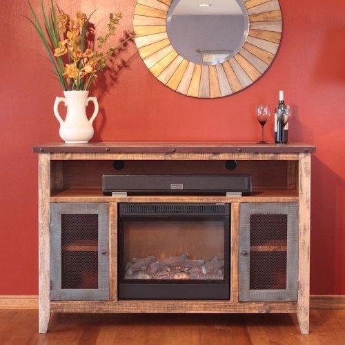 International Furniture Direct 900 Antique Fireplace Tv Inside Kado Corner Metal Mesh Doors Tv Stands (View 4 of 20)