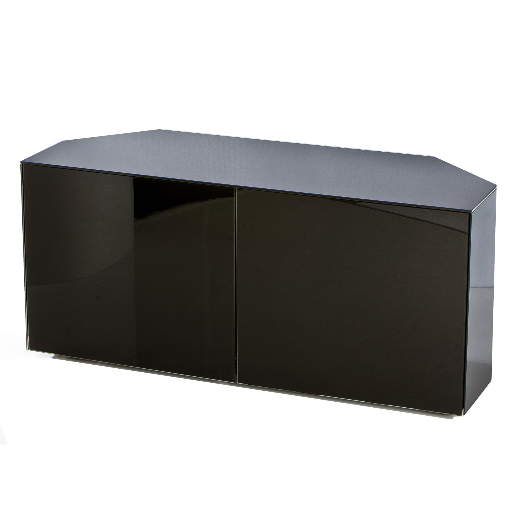 """Invictus Black High Gloss Corner Tv Stand For Up To 55"""" Tvs With Corner Tv Stands For Tvs Up To 43"""" Black (View 11 of 20)"""