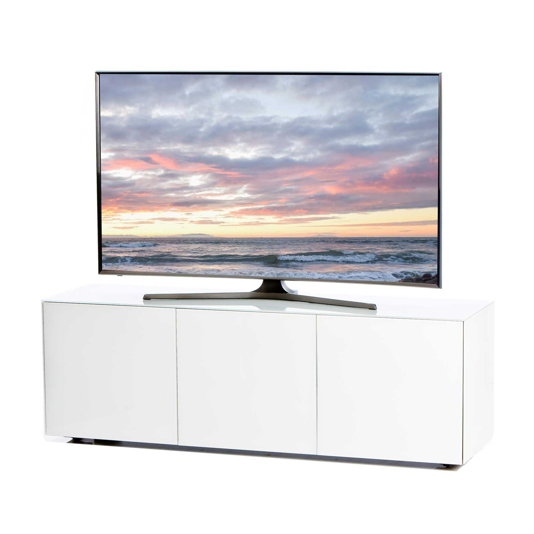 """Invictus White Tv Stand For Up To 70"""" Tvs Pertaining To Glass Tv Stands For Tvs Up To 70"""" (View 11 of 20)"""
