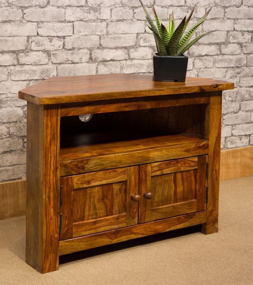 Ironbridge Style Solid Indian Rosewood Sheesham 80cm Within Samira Corner Tv Unit Stands (View 17 of 20)