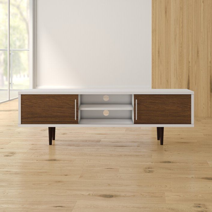 Iversen Tv Stand For Tvs Up To 75 Inches In 2020 | Tv With Horizontal Or Vertical Storage Shelf Tv Stands (View 16 of 20)
