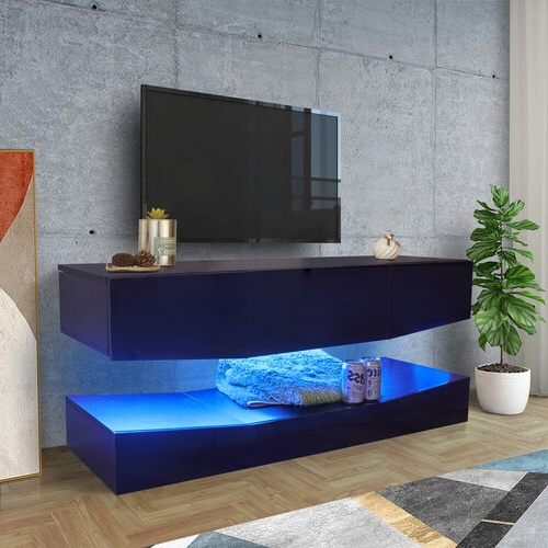 """Ivy Bronx Hadiqa Floating Tv Stand For Tvs Up To 50 In Aaliyah Floating Tv Stands For Tvs Up To 50"""" (View 6 of 20)"""