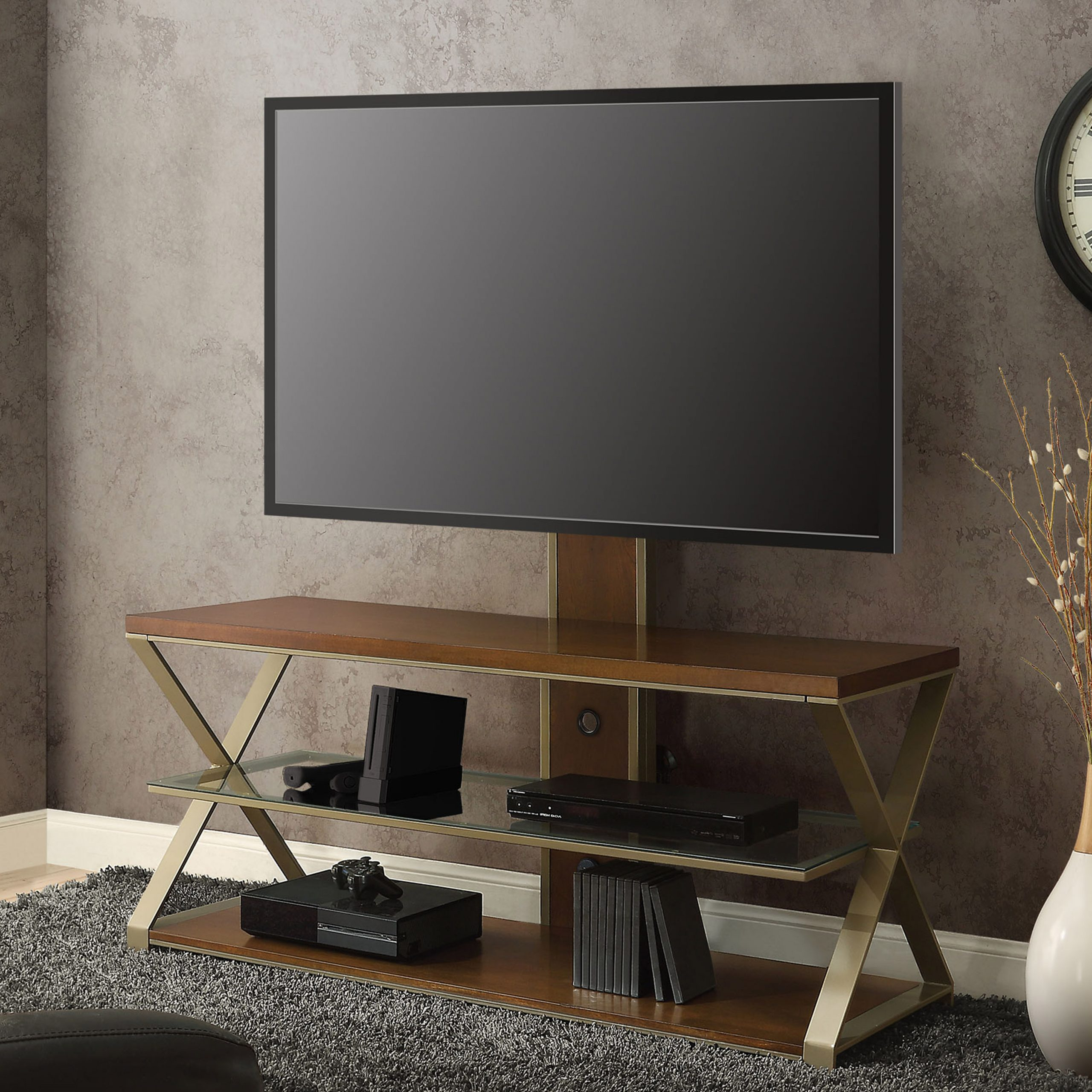 """Jaxon 3 In 1 Television Stand For Tvs Up To 70"""", With 3 In Lorraine Tv Stands For Tvs Up To 70"""" (View 10 of 20)"""
