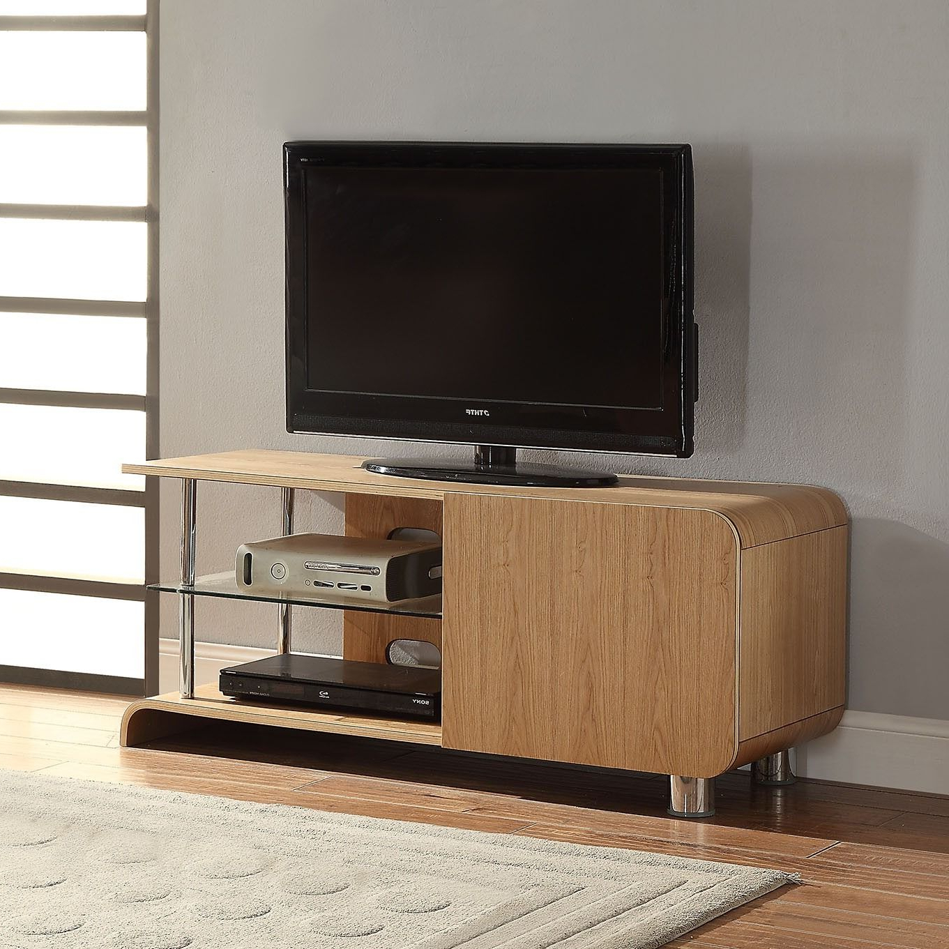 """Jual Furnishings Bs202 Ash Tv Stand For Up To 55"""" Tvs For Baba Tv Stands For Tvs Up To 55"""" (View 2 of 20)"""