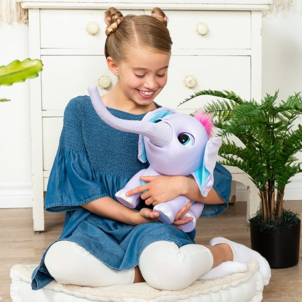 Juno My Baby Elephant With Interactive Moving Trunk And With Whalen Xavier 3 In 1 Tv Stands With 3 Display Options For Flat Screens, Black With Silver Accents (View 2 of 20)